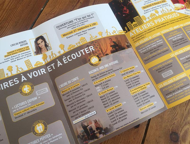 depliant-plaquette-programme-culture-livre-lecture-coulaines-sarthe-graphiste-picto-compagnie-ville