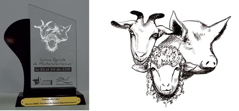 dessin-gravure-ancienne-encre-animaux-agriculture